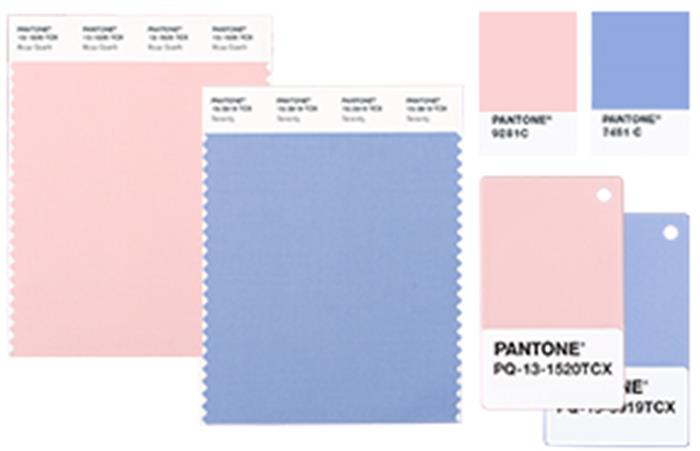 Collage of photos showing pink and blue colors