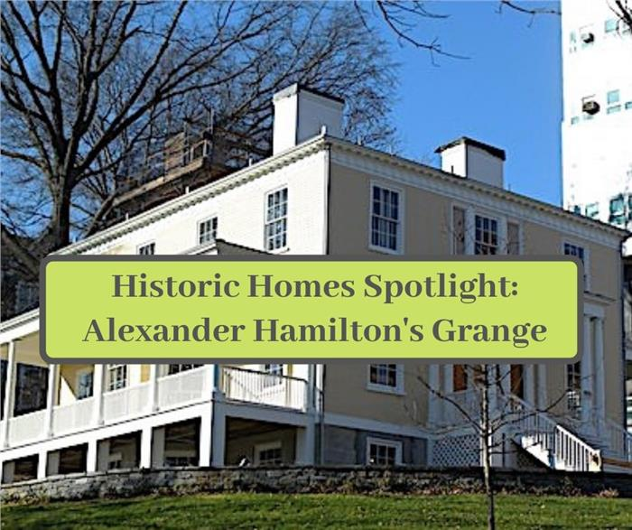 Photo showing Alexander Hamilton's Grange estate to illustrate article about the historic home