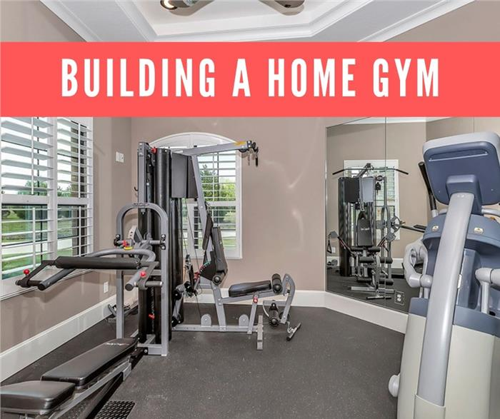 Lead image for article on building a home gym
