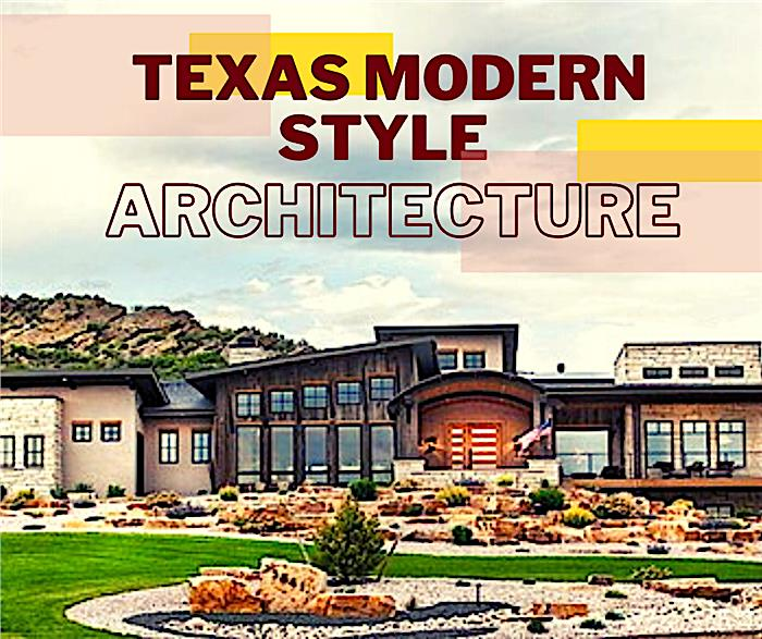 Contemporary style home illustrating article about Texas Modern house plans