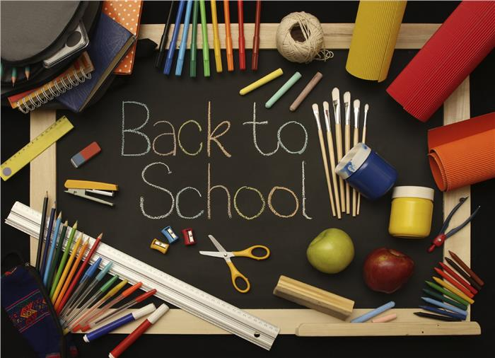 "Photo collage illustrating ""back to school"""