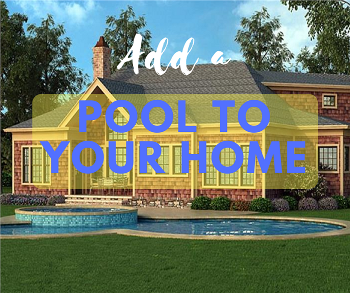 House with a backyard pool illustrating article on how to plan for a pool at your home