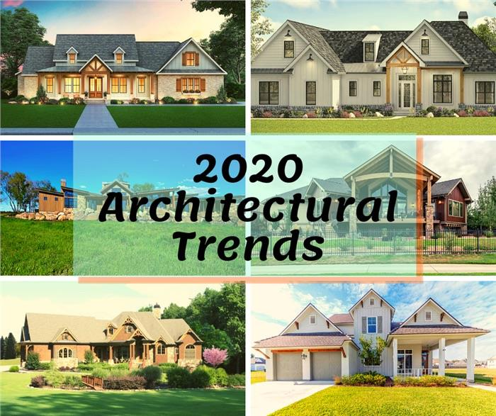Six homes illustrating article about trends in home architecture