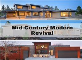 3 homes illustrating article on mid-century modern house design