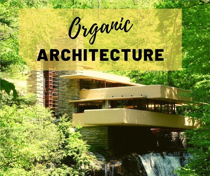 Falling Water, home designed by Frank Lloyd Wright, illustrating article about organic architecture