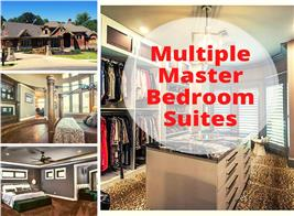 Bedroom suites in new homes illustrating article on multiple master bedroom suites