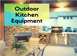Photograph illustrating article on outdoor kitchen equipment