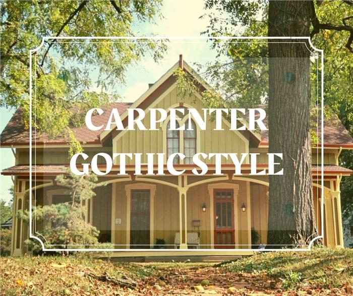 Home with central forward-facing gable illustrating article about Carpenter Gothic architecture