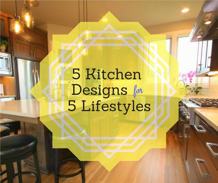 Image illustrating 5 Kitchen Designs for 5 Lifestyles