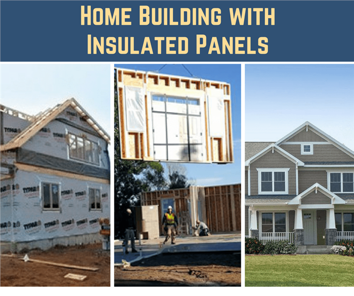Montage of 3 images illustrating article on home building with insulated panels