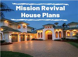 Southwestern style home illustrating article about Mission Revival House Plans