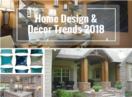 Montage of 4 photographs illustrating article on Home Design Trends