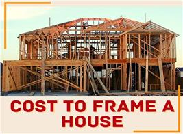 House under construction illustrating article about cost to frame a house