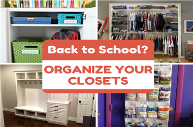 Article Category Back to School: 10 Tricks for Organizing Your Closets