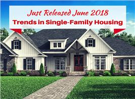 Single-family home illustrating article on construction trends in the United States
