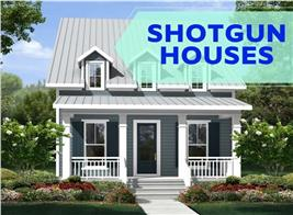 Narrow home illustrating article about Shotgun Style Houses