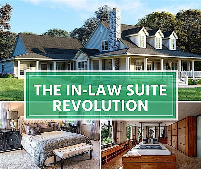 Montage of three photos to illustrate article on in-law suites