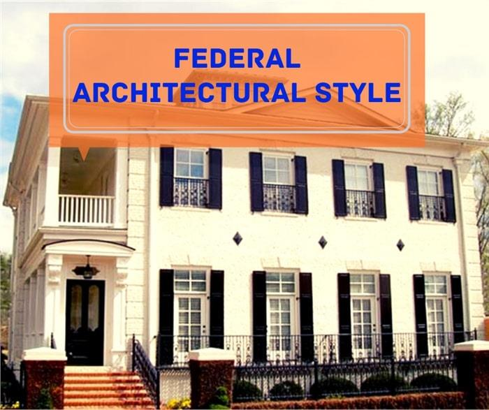 White Colonial style home illustrating article about Federal Architectural Style