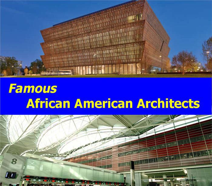Montage of 2 photos illustrating article on African American Architects