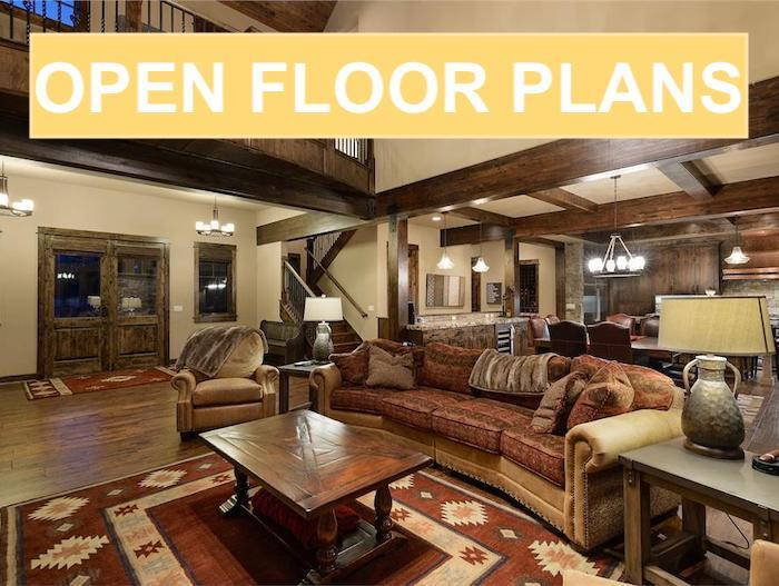 Modern Great Room illustrating article about open floor plans