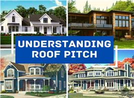Four homes illustrating article about roof pitch