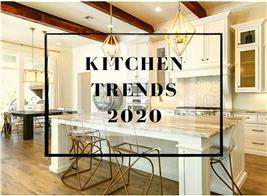 Modern, open kitchen illustrating article about 2020 kitchen design trends