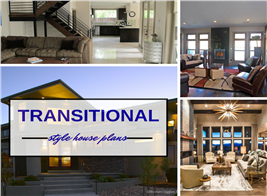 Montage of 3 photographs illustrating article about Transitional style home design