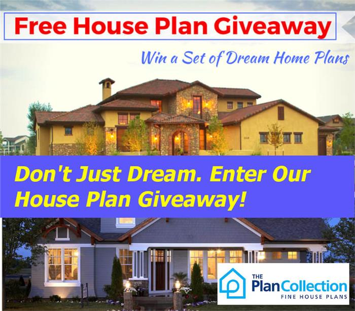 House Plan Giveaway – Image of Enter to Win from The Plan Collection