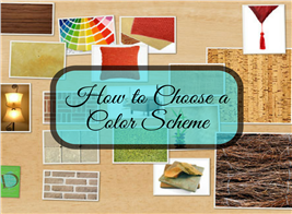 Image of interior design idea board for article on choosing color schemes
