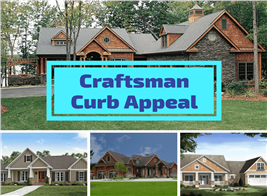 Montage of 4 photographs illustrating article on Craftsman curb appeal