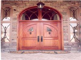 Elegant wood front door – House Plan #106-1165