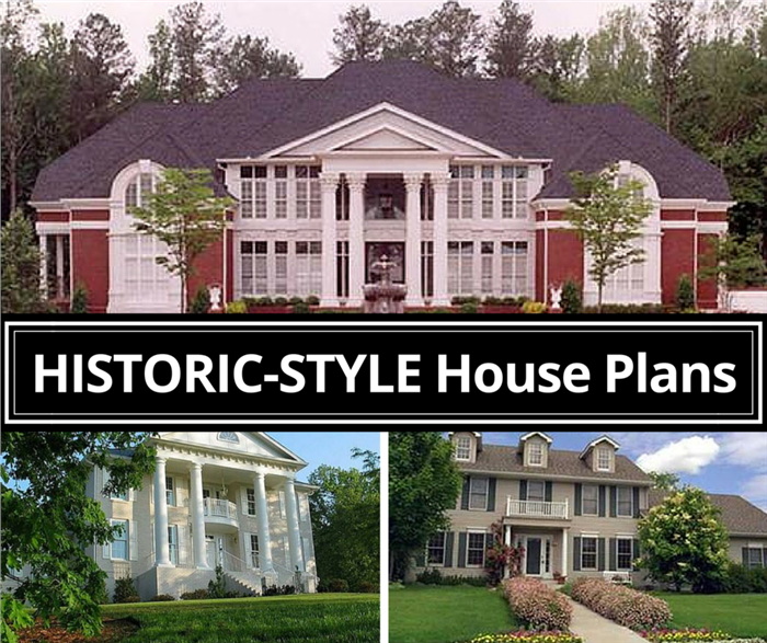 Historic-style house plans and home designs