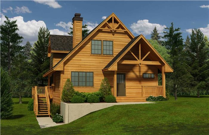Cozy log house plan