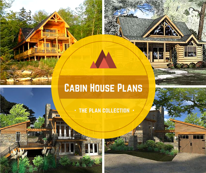 Montage Of 4 Photos Modern Cabin Home Plans
