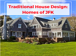 Photograph illustrating article on the homes of JFK