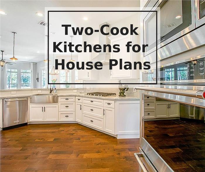Kitchen with large island to illustrate article about two-cook kitchens