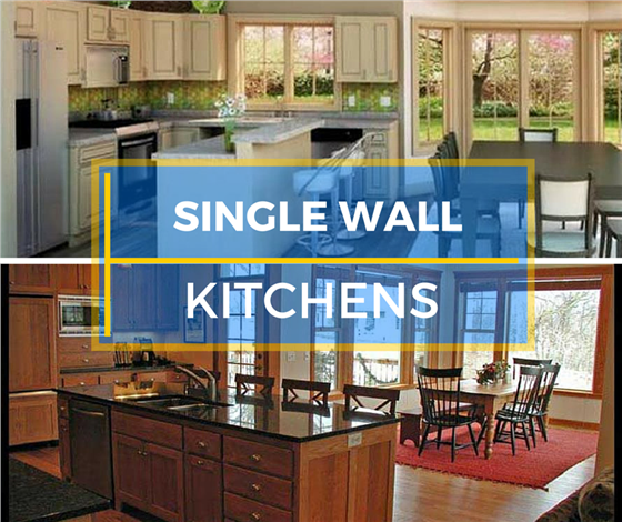 learn house plan 9 Ideas for Single Wall Kitchens