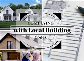 Montage of 3 photographs illustrating article about building codes