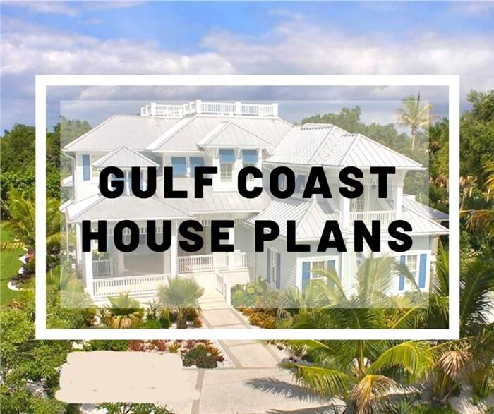 Florida style home illustrating article about Gulf Coast Region house plans