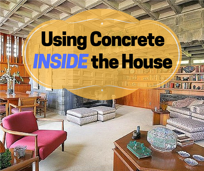 Photograph illustrating the use of concrete as an interior home decor material