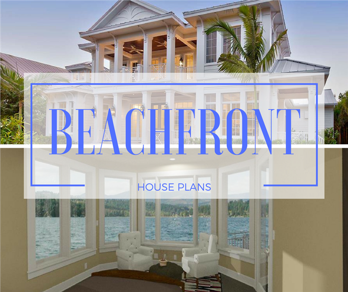 Montage of 2 photographs illustrating article about Beachfront House Plans