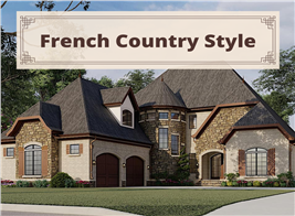Luxury French style home illustrating article about French Country residential architecture