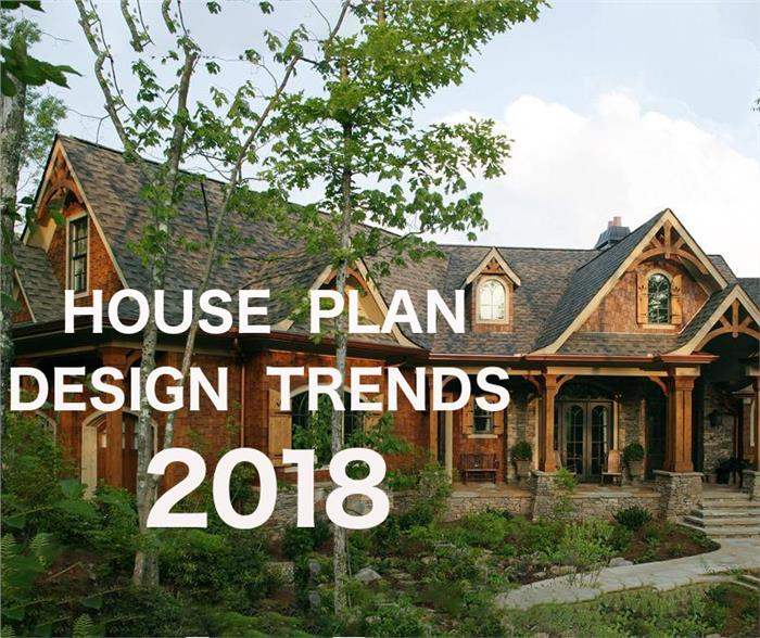 Images illustrating article on 2018 House Plan Design Trends