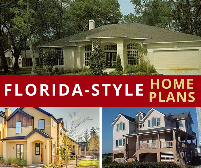 3 houses illustrating article about Florida-style homes
