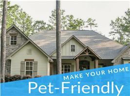 Lovely 1-story home illustrating article on how to make your home pet friendly