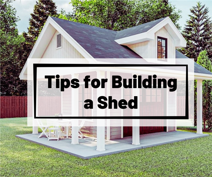 Shed with a patio illustrating article about building a she