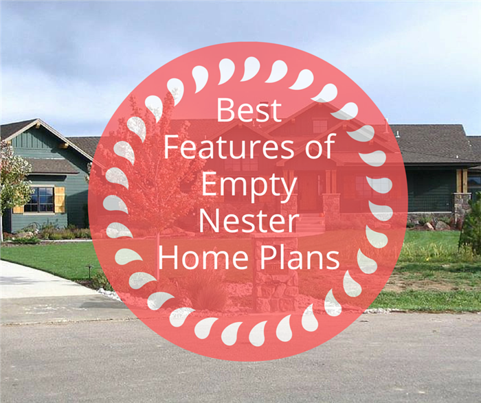 Photo and title depicting Empty Nester Home Plans