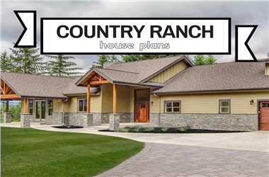 Article Category Country Ranch House Plans: Rustic Estate Style without Stairs