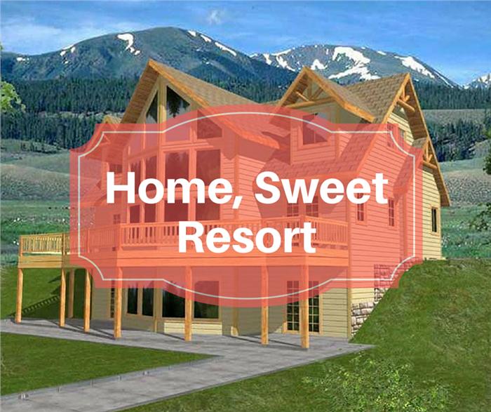 Photograph of resort-like House Plan #132-1313