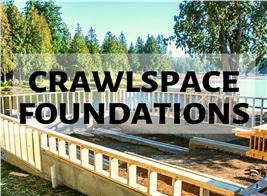 Rural residential foundation illustrating article about crawlspace foundations